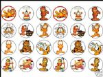 24 x GARFIELD 1.6'' rice paper cake toppers freepost